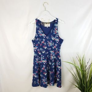 Charles Henry Blue Floral Print Dress Size M